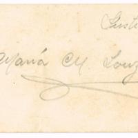 F. 1r. Tarjeta de María M. Lanzán