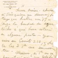 F. 1r. Cartas a Orsini Bertani
