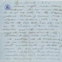 F. 1r. Carta de remitente desconocido