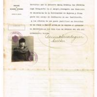 F. 1r. Certificado de identidad