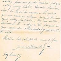 F. 3r. Carta de Américo Escuder