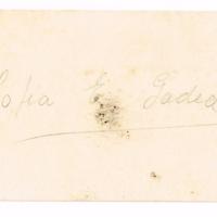 F. 1r. Tarjeta de Sofia E. Gadea