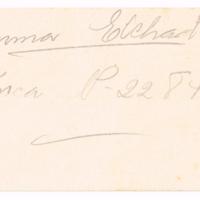 F. 1r. Tarjeta de Emma Elchart