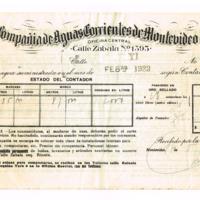 F. 1r. Recibo de la Compañía de Aguas Corrientes