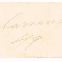 F. 1v. Tarjeta de Domingo Moreira