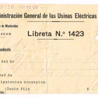 F. 1r. Recibo de Usina Eléctrica