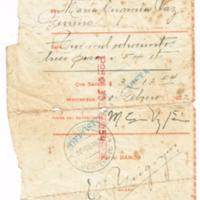 F. 1r. Recibo del Banco Comercial