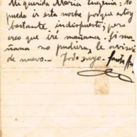 F. 1r. Carta de Arturo Santa Ana