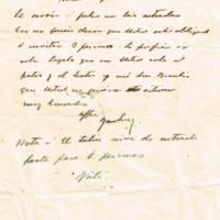 F. 3r. Cartas de Francisco Imhof