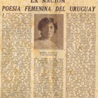 Poesía femenina del Uruguay
