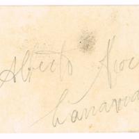 F. 1r. Tarjeta de Alberto Moreira