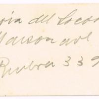 F. 1r. Tarjeta de María del Socorro Mansonare