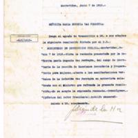 F. 1r. Resolución sobre presentación de renuncia