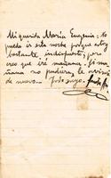 Carta de Arturo Santa Ana